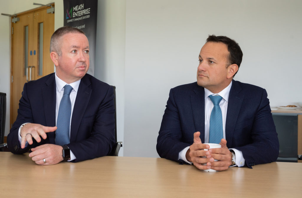 Gary O'Meara CEO Meath Enterprise and An Taoiseach Leo Varadkar - Startup Ecosystems