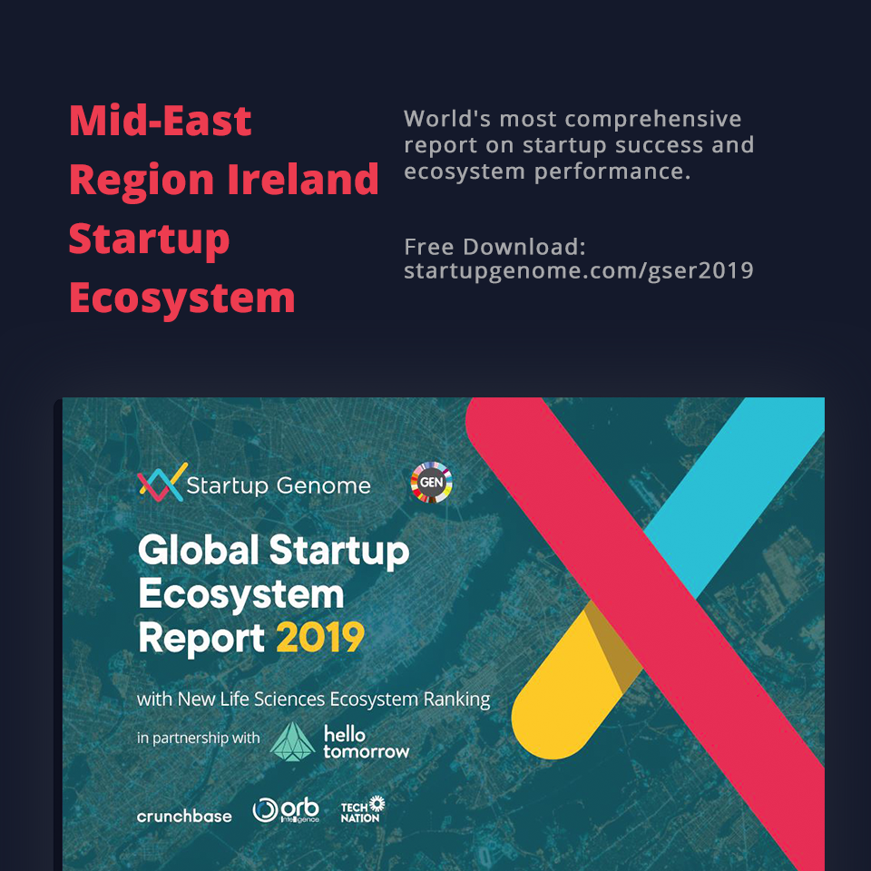 Mid-East Region Ireland now included in the Global Startup Ecosystem Report (GSER) 2019 - Startup Genome - Meath Enterprise
