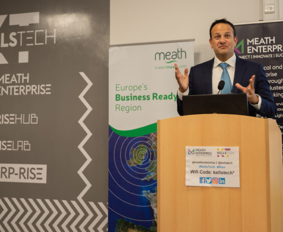 An Taoiseach Leo Varadkar TD speaking at Kells Tech Hub